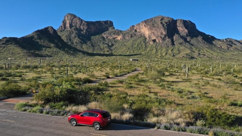 Southern Arizona road trip to Picacho Peak aerial photo by Mike Shubic of MikesRoadTrip.com