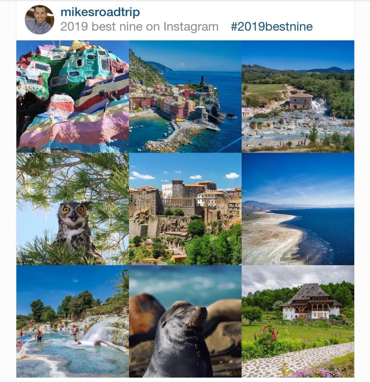 MikesRoadTrip Instagram best 9 for 2019