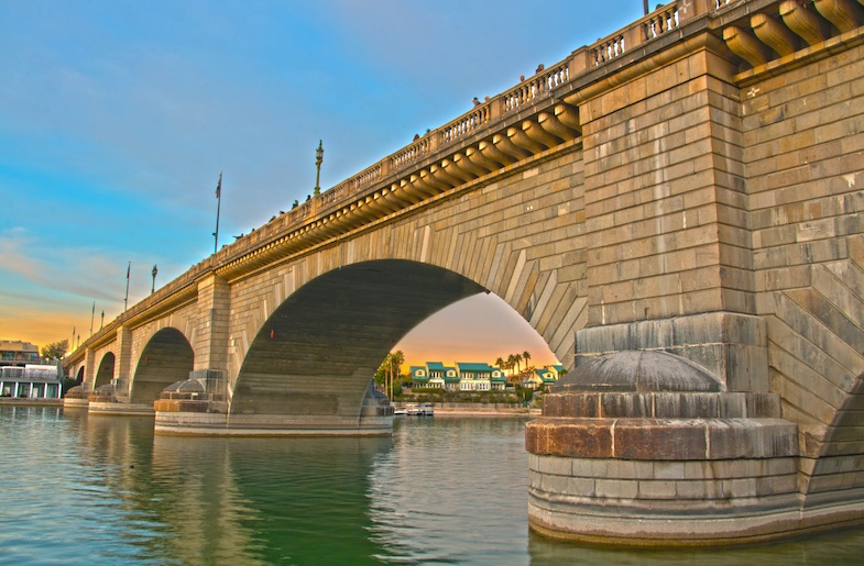 The London Bridge is one of the top places to visit in Central Arizona - Photo by: Mike Shubic of MikesRoadTrip.com