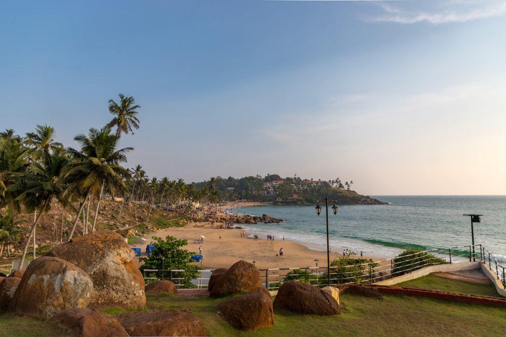Varkala beach in Kerala India