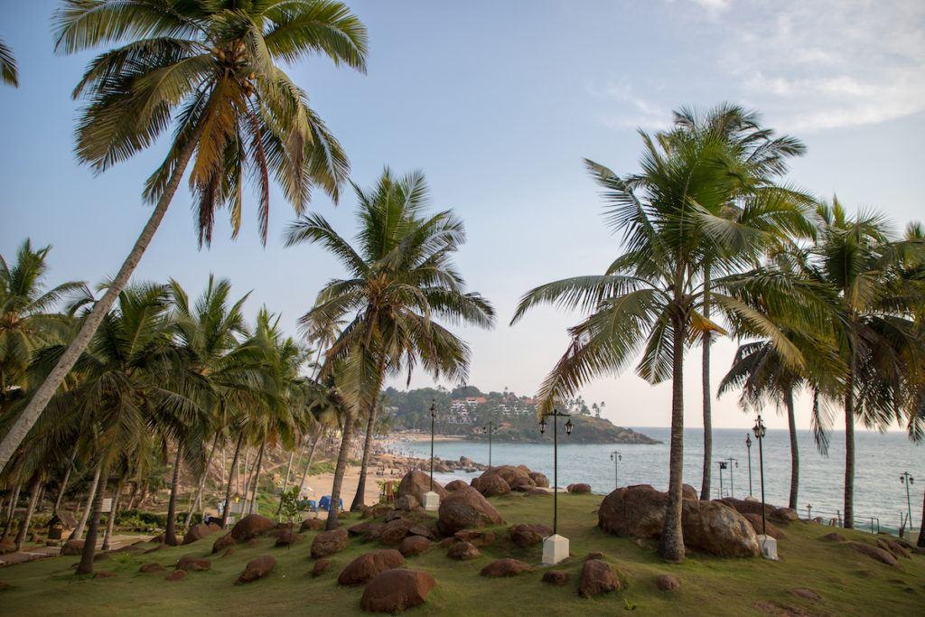 Varkala beach in southern India