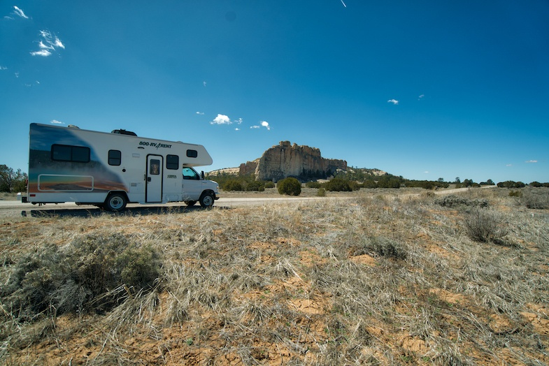 Cruise America RV at El Morro on an epic Southwest Road Trip - Photo by: Mike Shubic of MikesRoadTrip.com