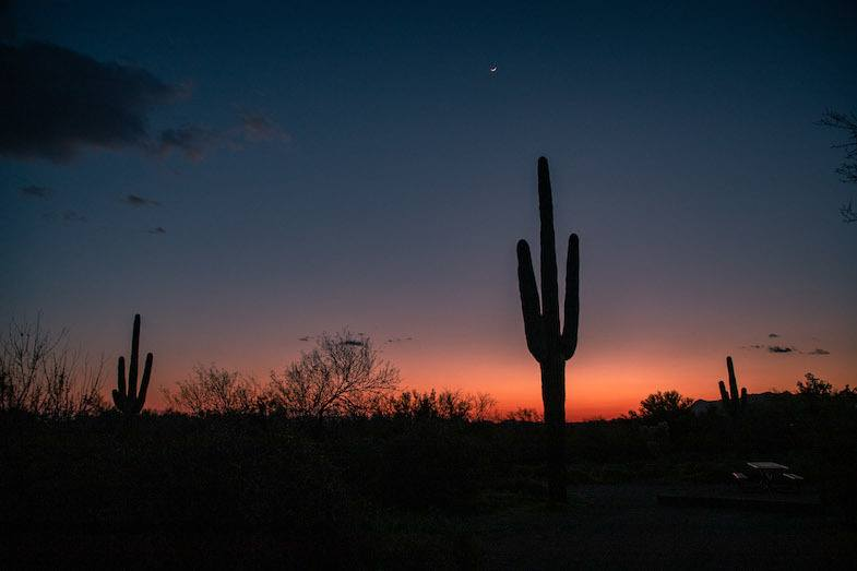 Sunset at Lost Dutchman State Park by Mihaela Popa of WorldTravelBug.com