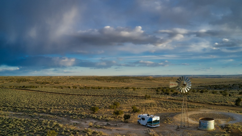 Northern New Mexico boondock with Cruise America RV - Photo by: Mike Shubic of MikesRoadTrip.com