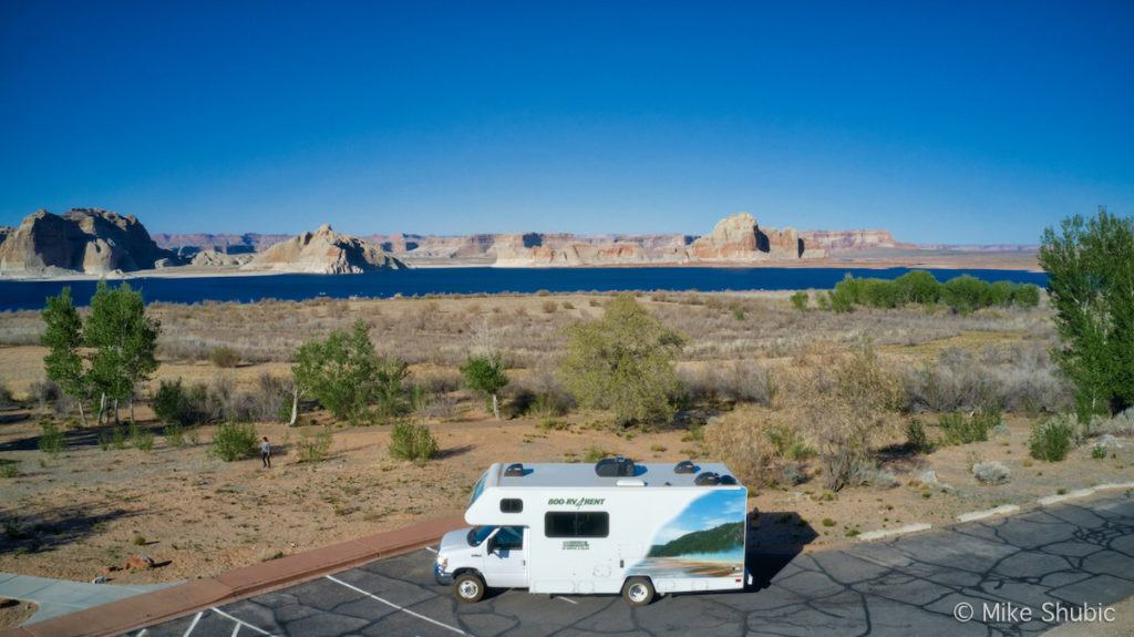 Cruise America RV at Lake - Photo by: Mike Shubic of MikesRoadTrip.com
