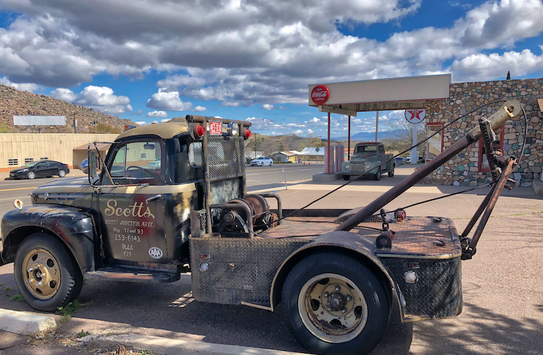 Old gas station in Yarnell - Photo by MikesRoadTrip.com