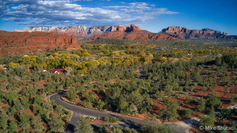 Phoenix to Sedona road trip in the Fall along highway 89. Photo by Mike Shubic of MikesRoadTrip.com