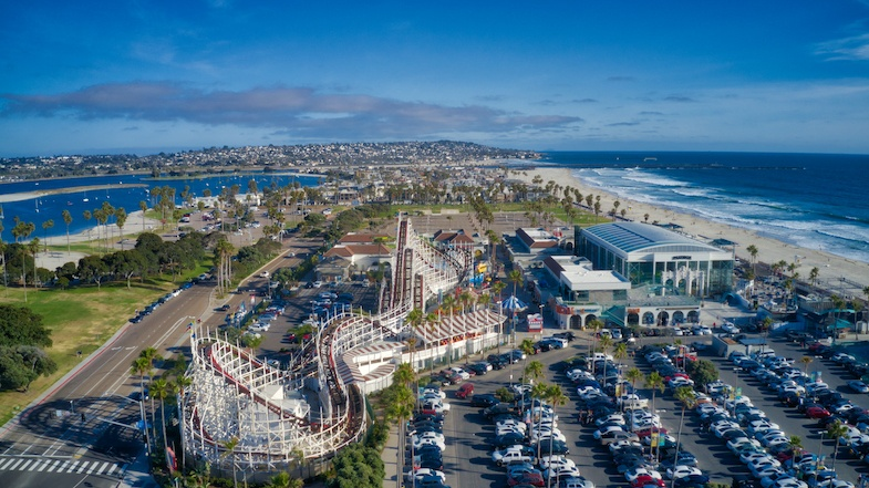 Belmont Park roller coaster is one of the most fun things to do San Diego California