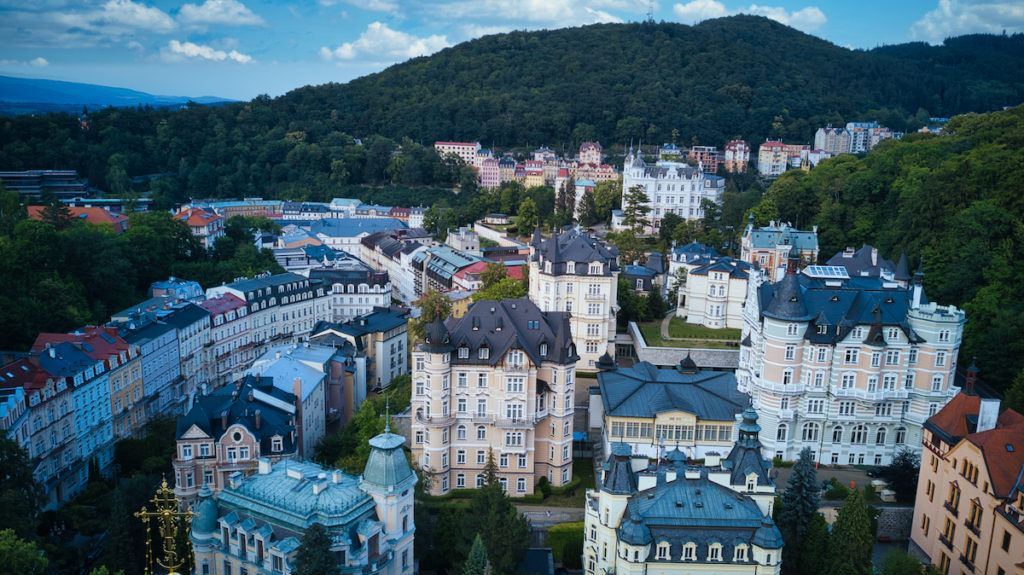 Karlovy Vary is a spa town in the Czech Republic
