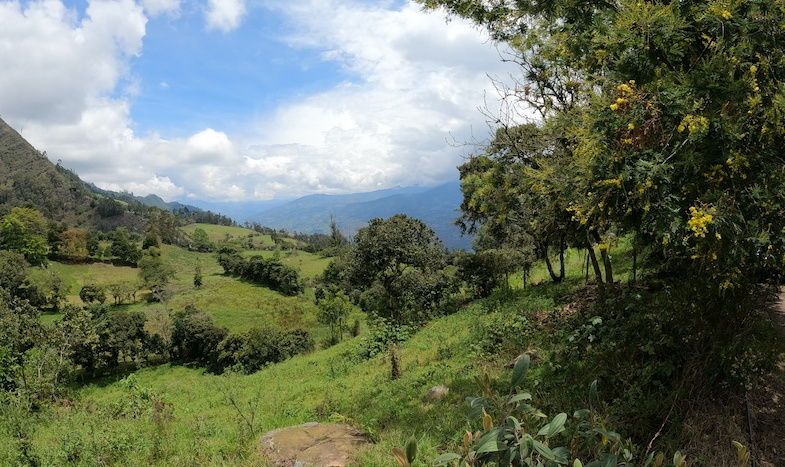 Bogota countryside in the Andes Mt. - by MikesRoadTrip.com