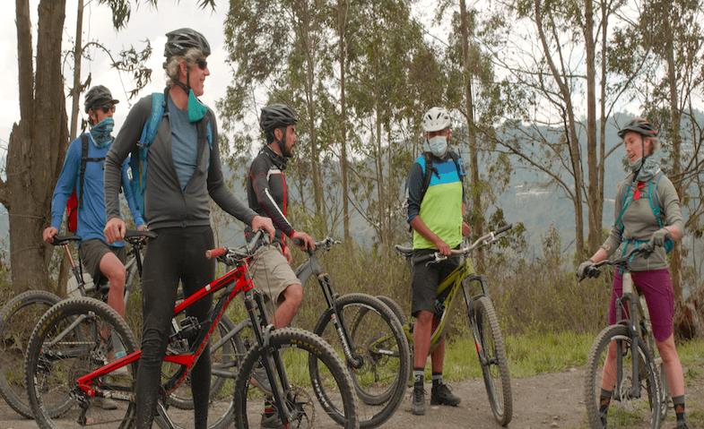 Mountain Biking outside of Bogota
