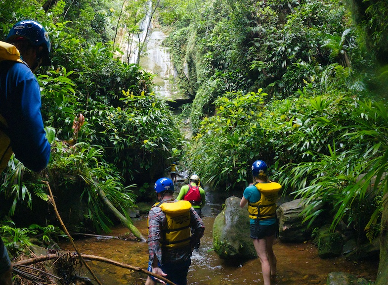 Walking-to-waterfall-in-Colombia -  Photo by Mike of MikesRoadTrip.com